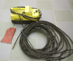 riool ontstopings apparatuur: karcher doorspuit pomp