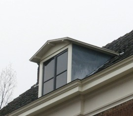 dakkapel met zink afgewerkt